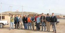 Equipo del Cifes y Fraunhofer trabajando en terreno en Diego de Almagro tras la catástrofe