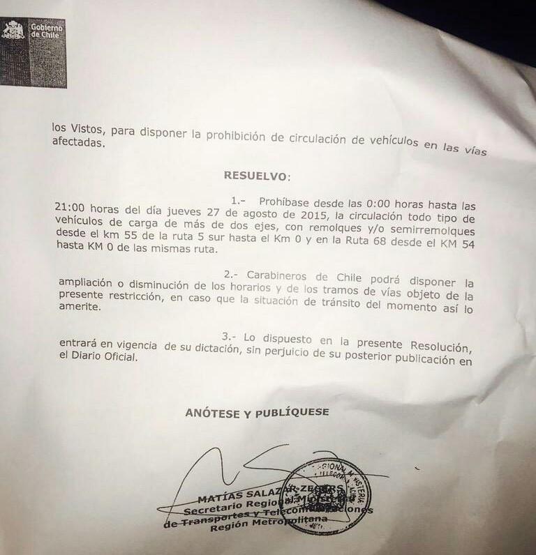Decreto Camiones