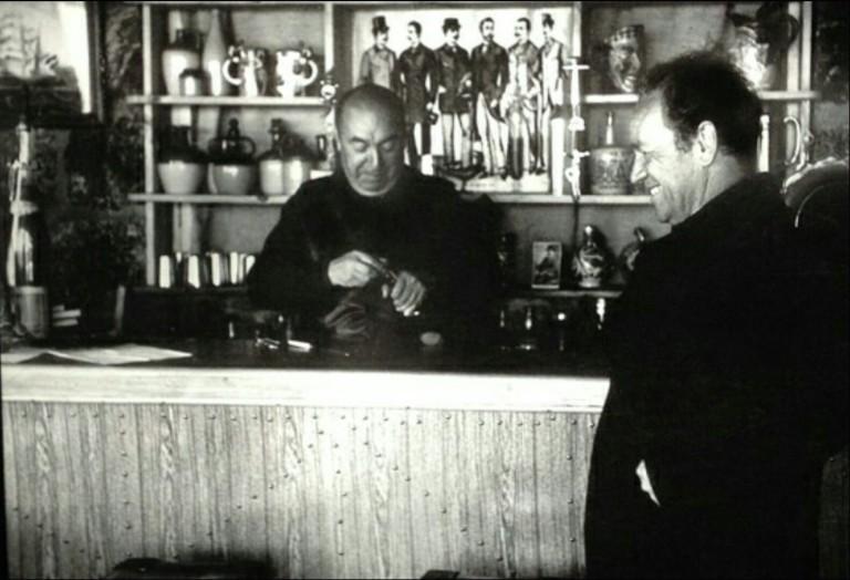Pablo Mérida y Nicanor Parra