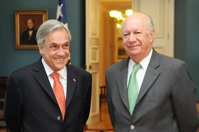 Lagos y Piñera