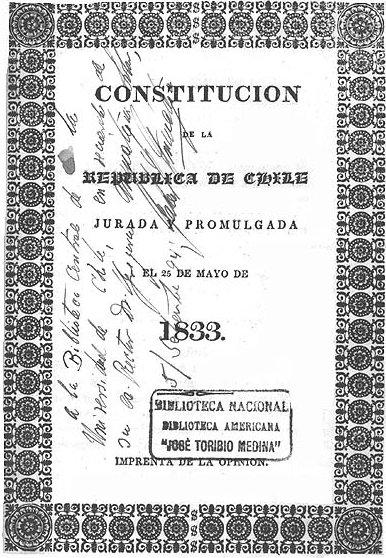 Constitucion Chile 1833
