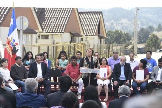 Presidenta Bachelet anuncia constitución de Comité de Ministros en casos de catástrofes naturales