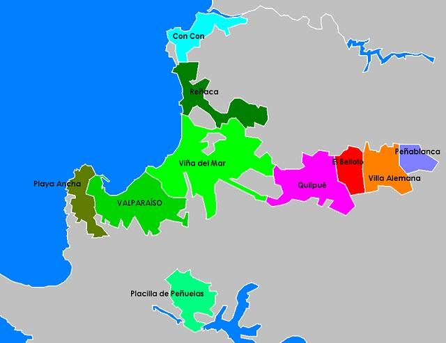 Mapa Gran Valparaíso