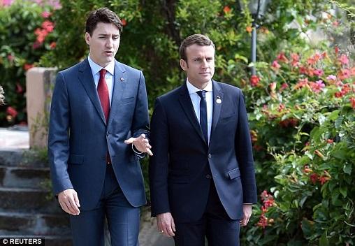 Presidente de Francia y primer ministro de Canadá